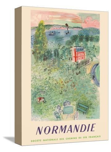Normandie, France - SNCF (French National Railway Company)-Raoul Dufy-Stretched Canvas Print