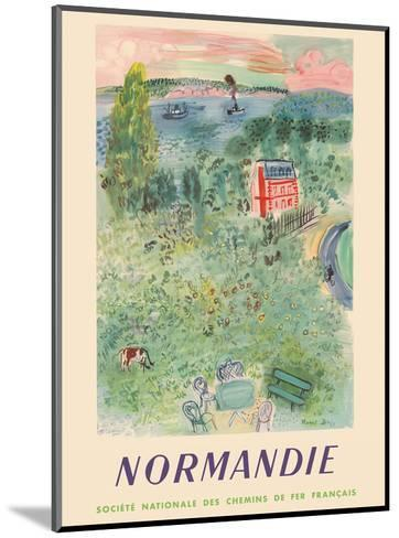 Normandie, France - SNCF (French National Railway Company)-Raoul Dufy-Mounted Art Print