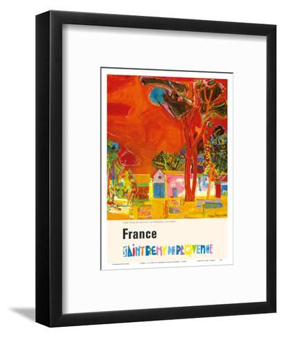 France - St. Remy De Provence (Provence St. Remy) - St. Paul Monastery (Resting Place of Van Gogh)-Roger Bezombes-Framed Art Print