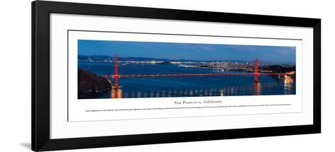 San Francisco - Golden Gate at Night - Unframed-Christopher Gjevre-Framed Art Print