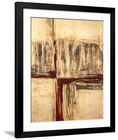 Red Crossing-Sarah West-Framed Art Print