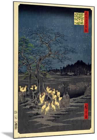 Foxes Meeting at Oji-Utagawa Hiroshige-Mounted Art Print