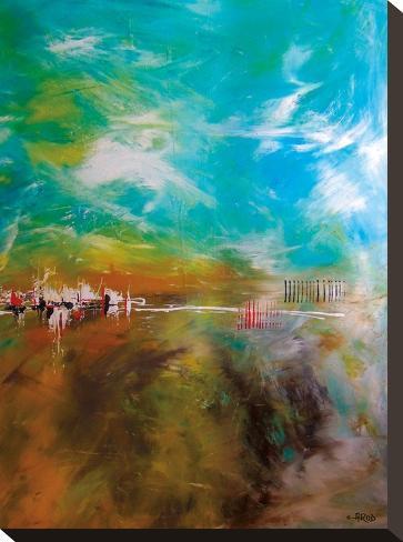 Abdikation Terrestre-Annie Rodrigue-Stretched Canvas Print