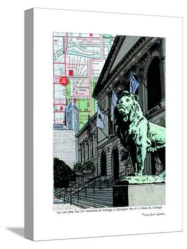 Art Institute Lion Chicago--Stretched Canvas Print