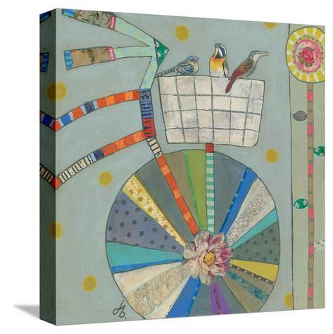 Bird Basket In Bicycle 42X42-Julie Beyer-Stretched Canvas Print