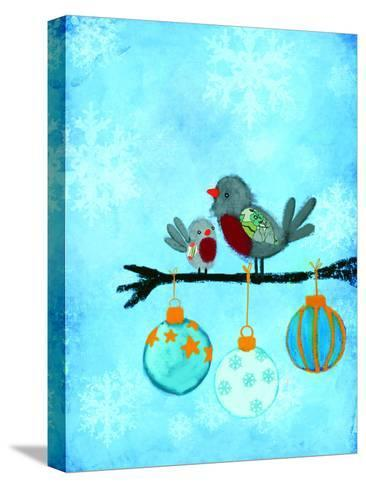 Birds With Ornaments-Advocate Art-Stretched Canvas Print