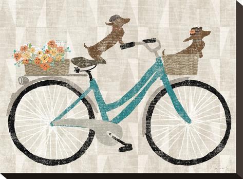 Doxie Ride Ver I-Wild Apple Portfolio-Stretched Canvas Print