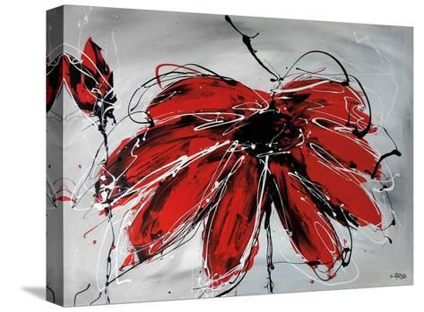 Fleur De Coeur-Annie Rodrigue-Stretched Canvas Print