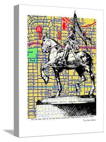 Joan-Of-Arc Portland--Stretched Canvas Print