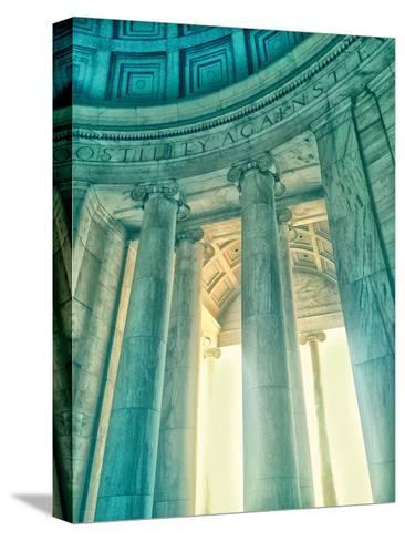 Jefferson Memorial 17-Golie Miamee-Stretched Canvas Print