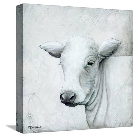 January Cow II-Britt Hallowell-Stretched Canvas Print