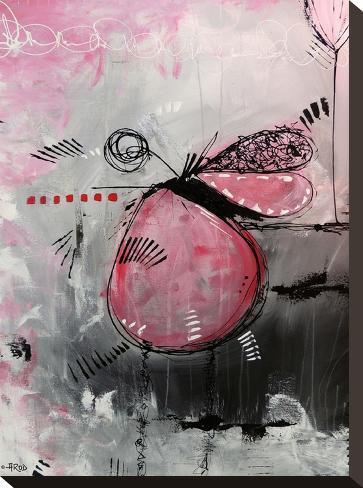 Motus Aux Fraises-Annie Rodrigue-Stretched Canvas Print