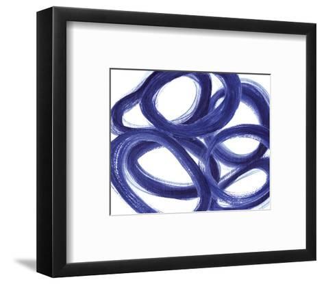 Indigo Ellipses-Inuit-Framed Art Print