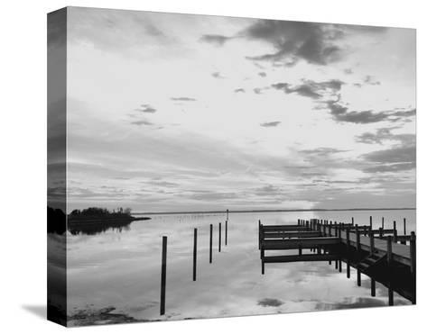 Sunset Pier-Eve Turek-Stretched Canvas Print