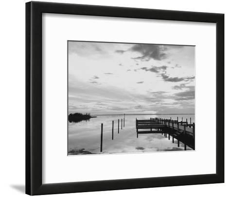 Sunset Pier-Eve Turek-Framed Art Print