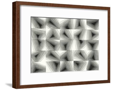 Gradient Grays I-Nikki Galapon-Framed Art Print
