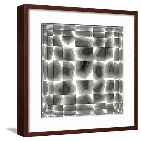 Gradient Grays III-Nikki Galapon-Framed Art Print