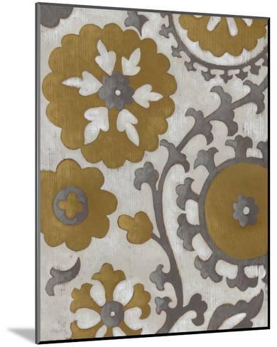 Ochre Suzani II-Chariklia Zarris-Mounted Premium Giclee Print