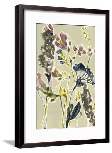 Parchment Flower Field I-Jennifer Goldberger-Framed Art Print