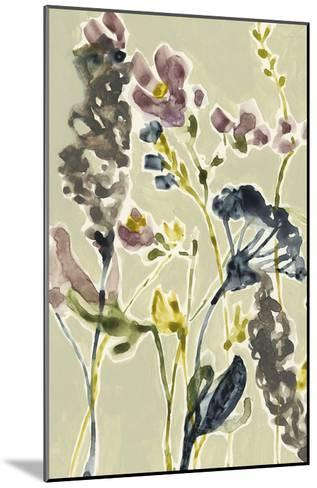 Parchment Flower Field I-Jennifer Goldberger-Mounted Premium Giclee Print