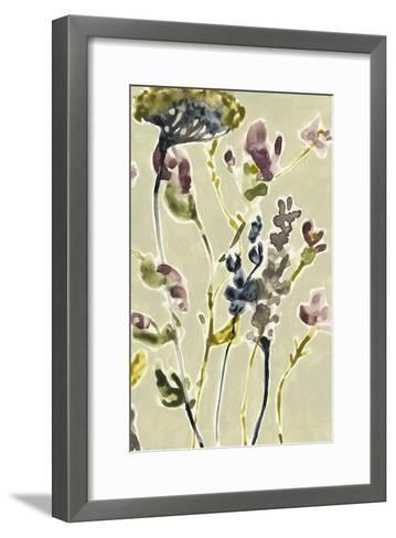 Parchment Flower Field II-Jennifer Goldberger-Framed Art Print