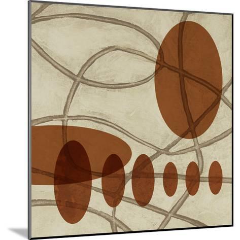 Earthen Ovals II-Jennifer Goldberger-Mounted Premium Giclee Print