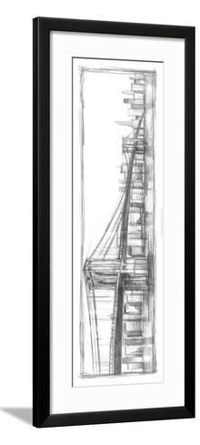 Brooklyn Bridge Sketch-Ethan Harper-Framed Art Print