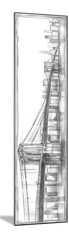 Brooklyn Bridge Sketch-Ethan Harper-Mounted Premium Giclee Print