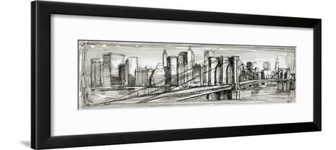 Pen and Ink Cityscape II-Ethan Harper-Framed Art Print