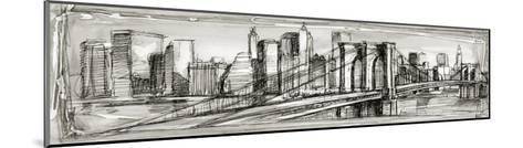 Pen and Ink Cityscape II-Ethan Harper-Mounted Premium Giclee Print