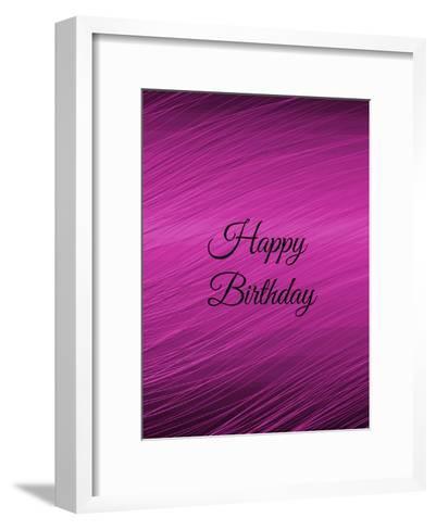 Purple Happy Birthday-Wonderful Dream-Framed Art Print