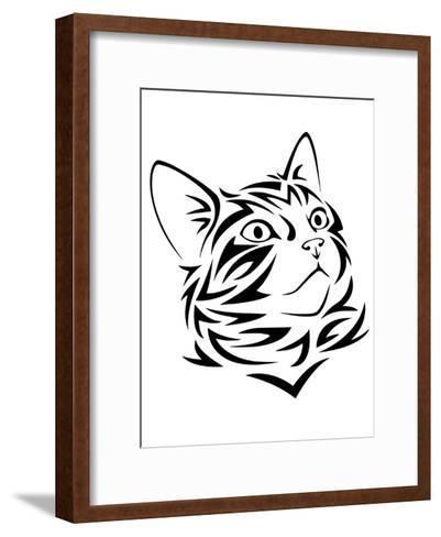 Tribal Cat Kitten Animal-Wonderful Dream-Framed Art Print