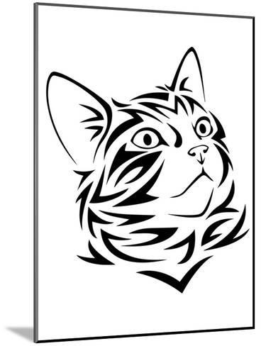 Tribal Cat Kitten Animal-Wonderful Dream-Mounted Art Print