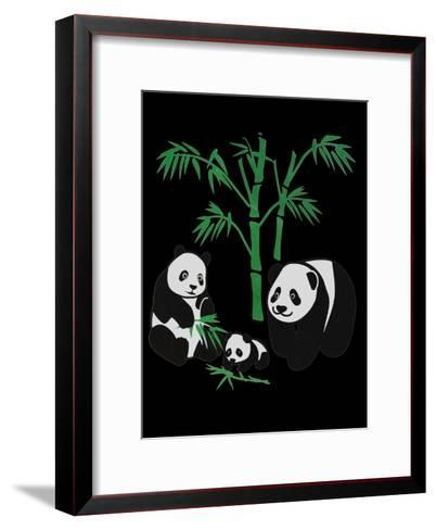 Panda Bear Family With Bamboo-Wonderful Dream-Framed Art Print