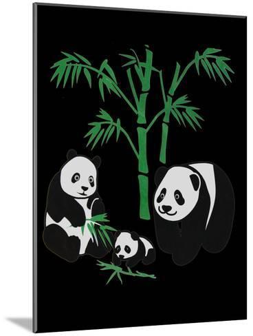 Panda Bear Family With Bamboo-Wonderful Dream-Mounted Art Print