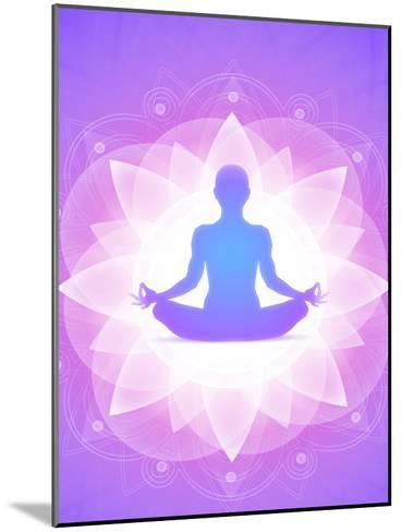 Purple Yoga Faith Meditation-Wonderful Dream-Mounted Art Print