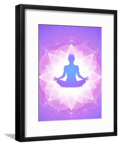 Purple Yoga Faith Meditation-Wonderful Dream-Framed Art Print