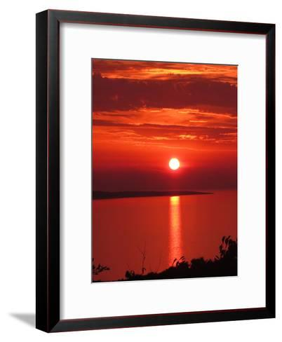 Red Sunset Sunrise Holiday-Wonderful Dream-Framed Art Print