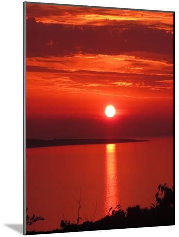 Red Sunset Sunrise Holiday-Wonderful Dream-Mounted Art Print