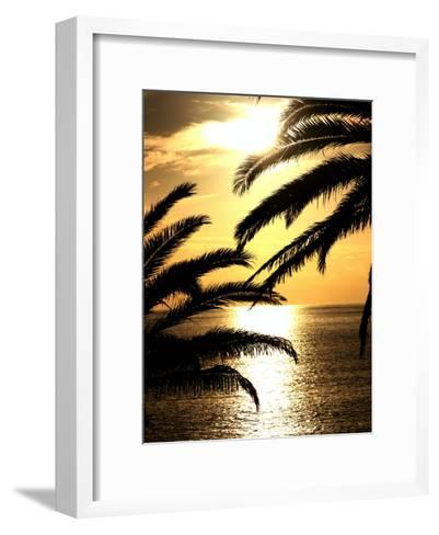 Sunset With Palm Leafs Travel-Wonderful Dream-Framed Art Print