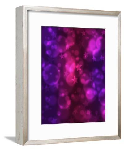 Blue Purple Star Design Christmas-Wonderful Dream-Framed Art Print
