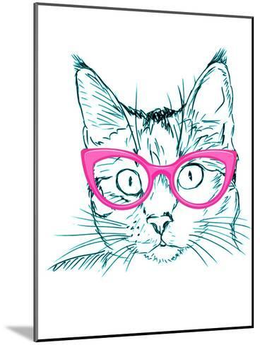 Hipster Cat-Wonderful Dream-Mounted Art Print