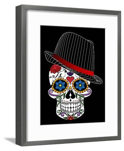Hipster Horror Skull Halloween-Wonderful Dream-Framed Art Print