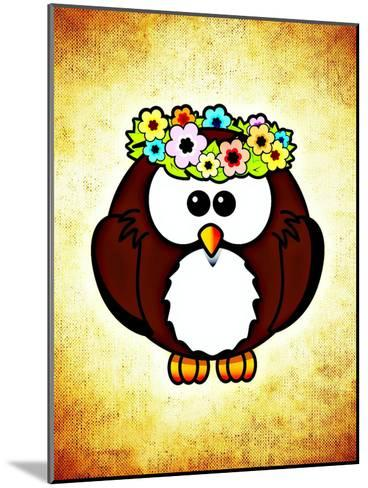 Cool And Funny Owl Bird-Wonderful Dream-Mounted Art Print