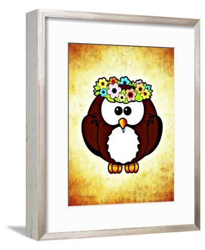 Cool And Funny Owl Bird-Wonderful Dream-Framed Art Print