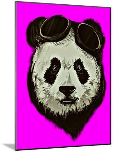 Hipster Panda Bear Pink Style-Wonderful Dream-Mounted Art Print