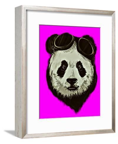 Hipster Panda Bear Pink Style-Wonderful Dream-Framed Art Print