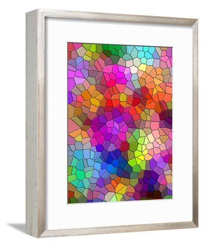 Colorful Abstract Mosaic Style-Wonderful Dream-Framed Art Print