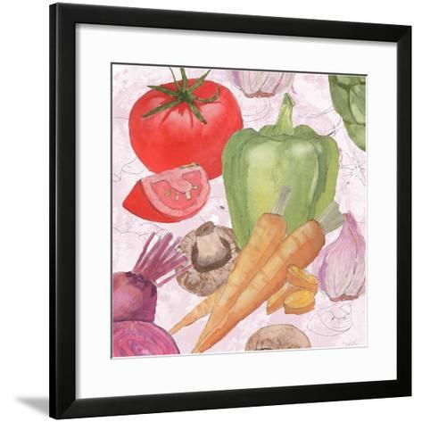 Veggie Medley II-Leslie Mark-Framed Art Print