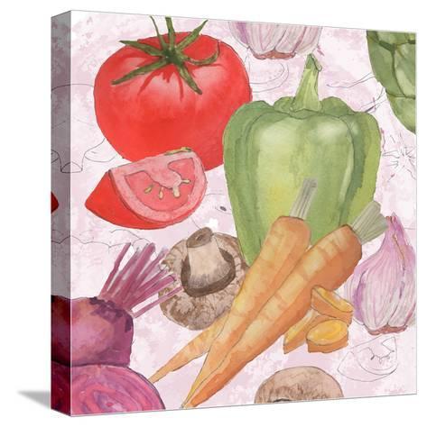 Veggie Medley II-Leslie Mark-Stretched Canvas Print